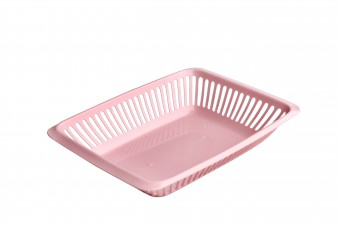Plastic pastry basket perforated 290x220x56mm