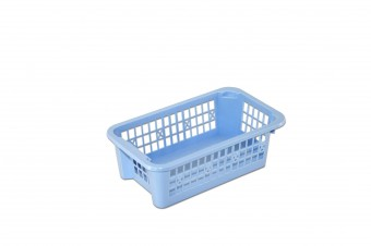 Small stackable plastic basket perforated 200x120x65mm