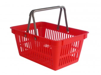 Plastic hopping basket with two handles