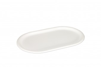 Oval plastic tray