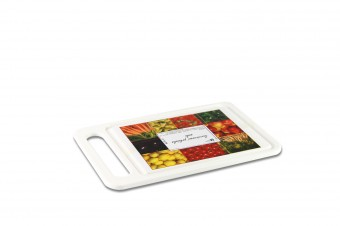 Plastic cutting and serving board small